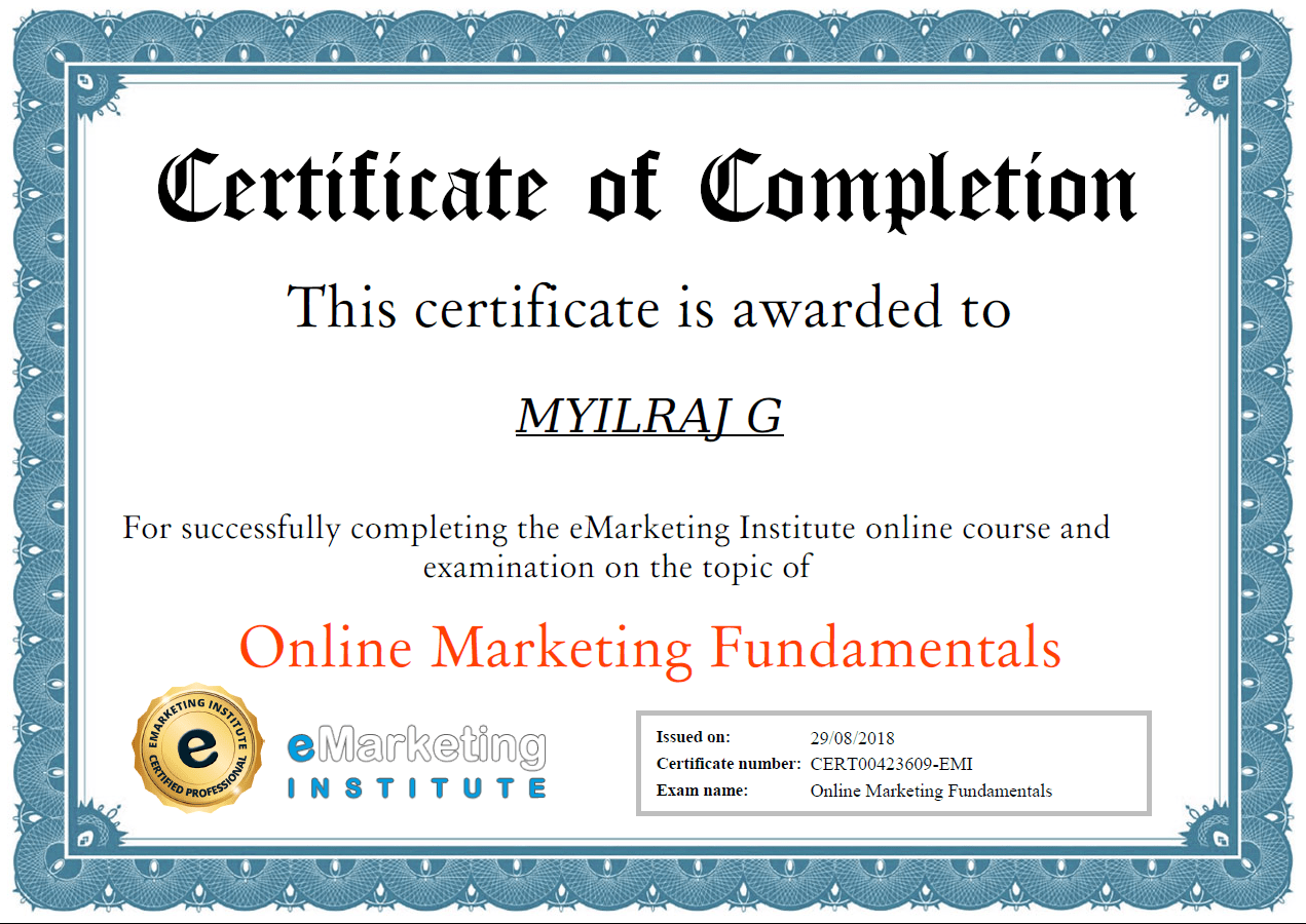 EMarketing-Institute-Certificate